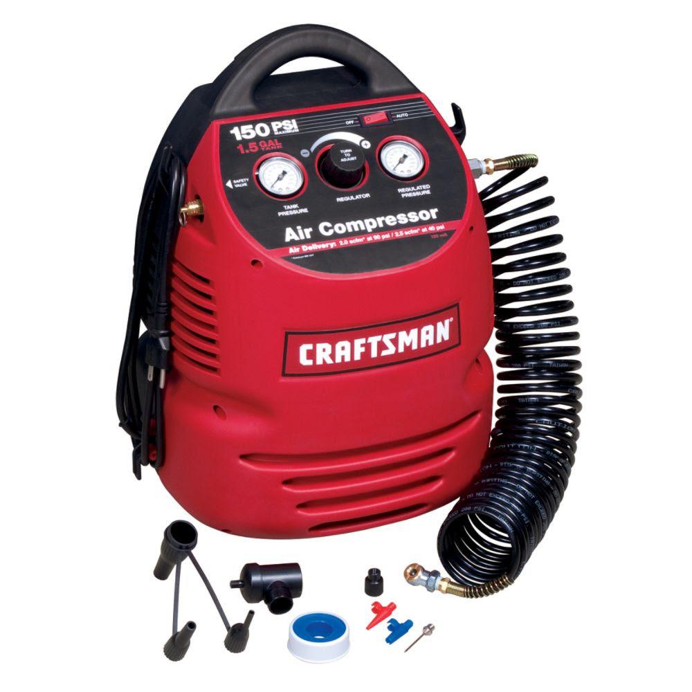 craftsman 150 psi air compressor 1.5 gal manual