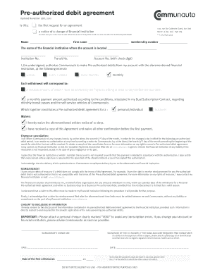 Bmo pre authorized debit form pdf