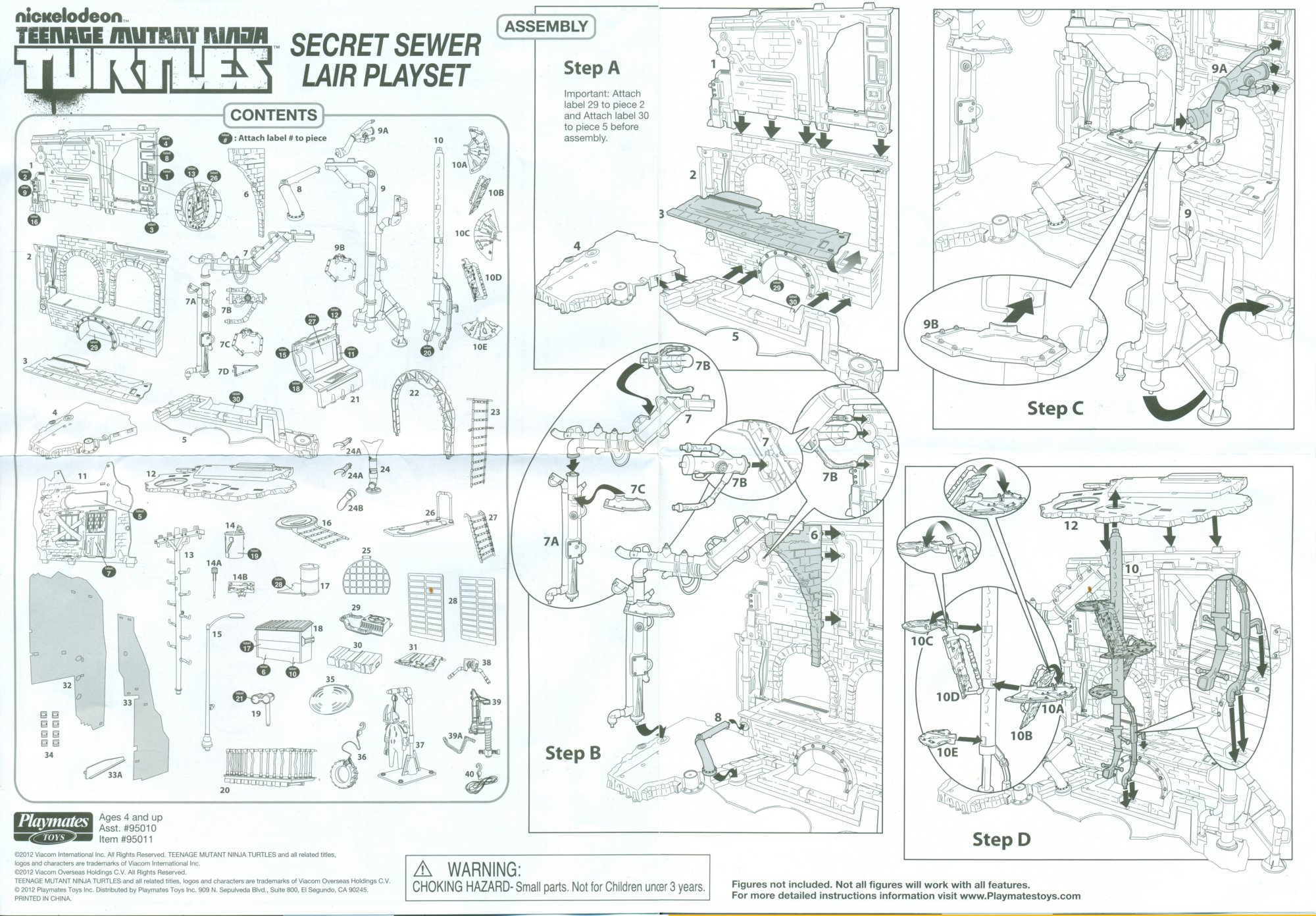 Ninja turtle secret sewer lair instructions