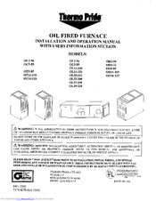 Thermo pride oil furnace manual