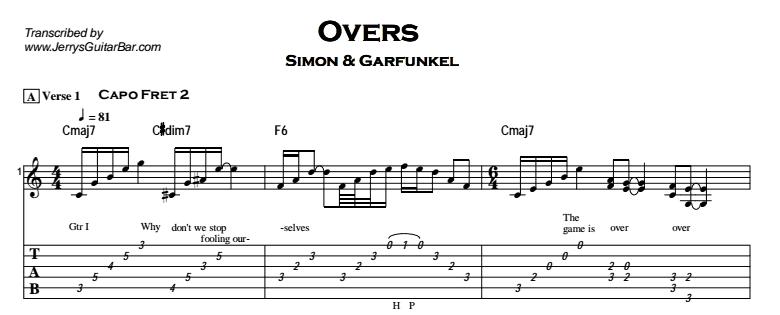 Simon and garfunkel guitar tabs pdf