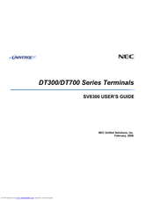 Nec dt700 quick reference guide