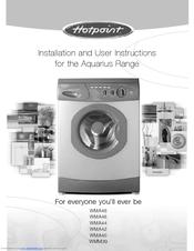 instruction manual for hotpoint aquarius washing machine