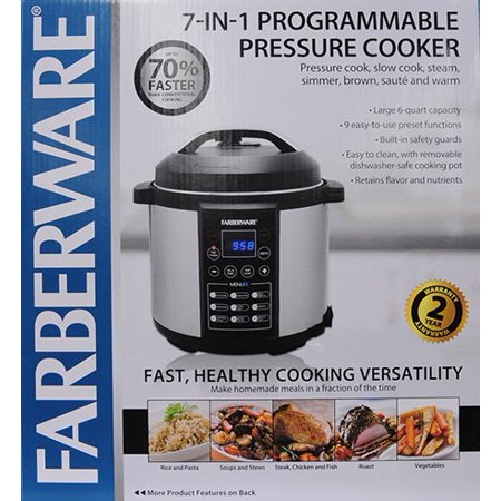 Farberware 6 qt digital pressure cooker manual