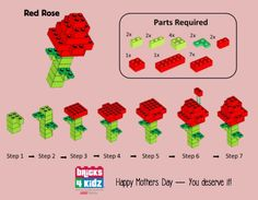 lego rose building instructions
