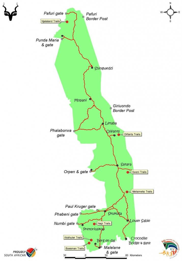 Kruger national park map pdf