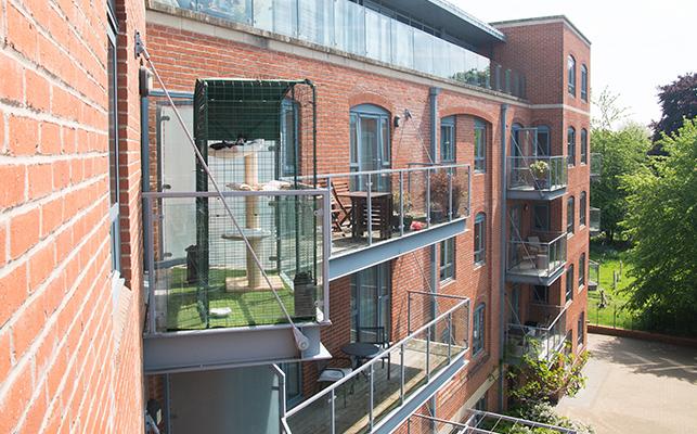 enclose apartment balcony cat instructions