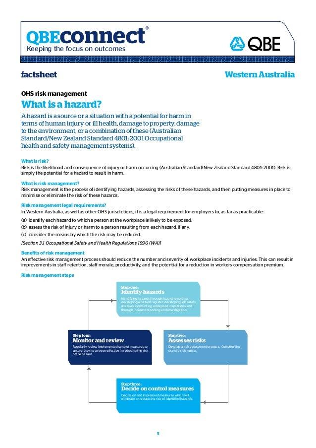 Ohs risk management handbook standards australia