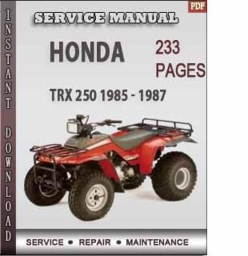 86 honda trx 250 repair manual