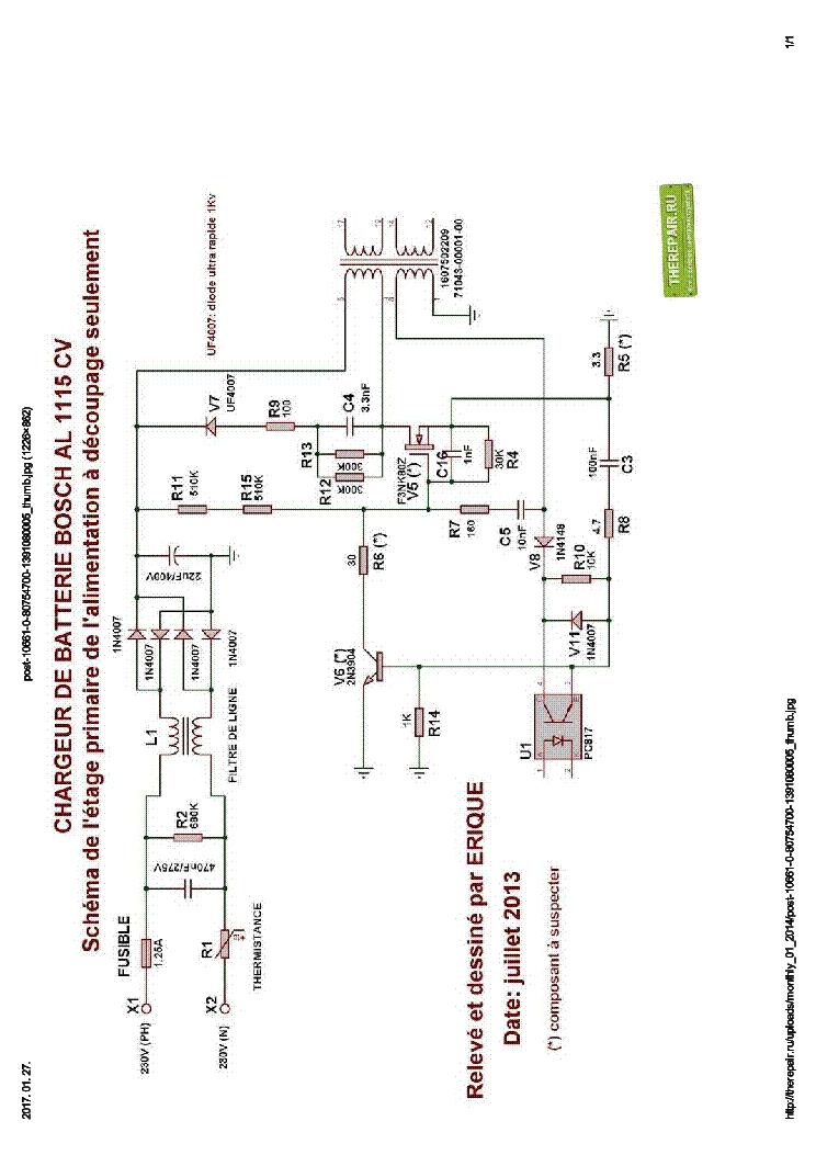 bosch al 2450 dv charger user manual