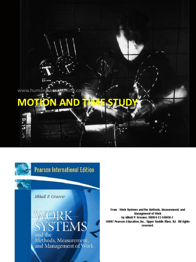 Motion and time study ralph m barnes pdf