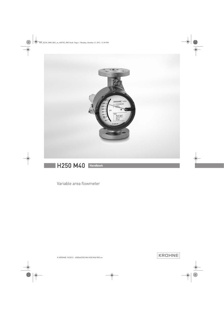 Krohne marshall flow meter manual pdf