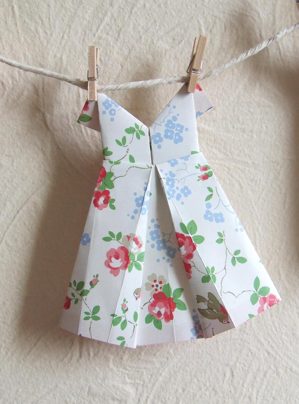 origami wedding dress instructions