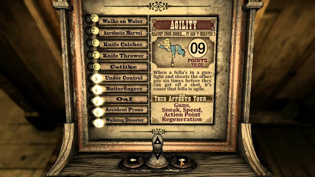 Fallout new vegas character creation guide