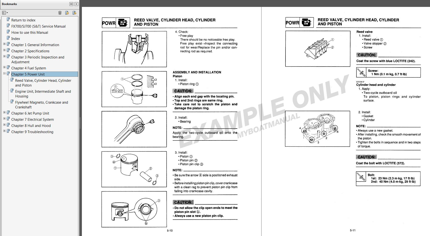 94 yamaha waverunner iii service manual