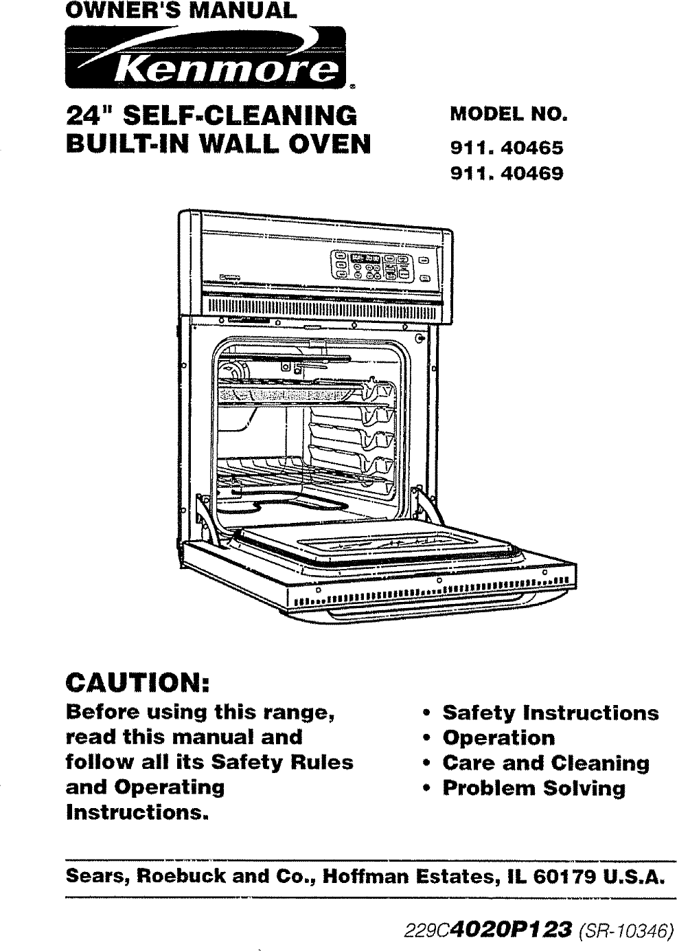 kenmore built in oven manual