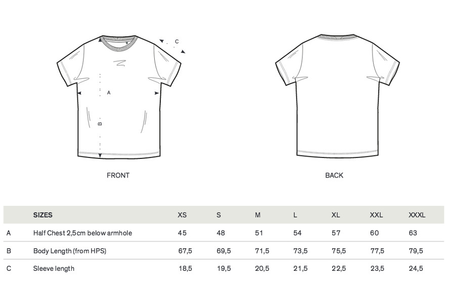 Fairtex t shirt size guide