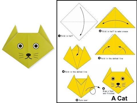 paper cat origami instructions