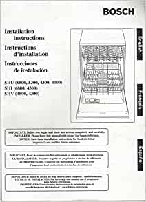 bosch integrated dishwasher installation instructions