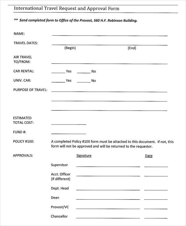 Travel document application form pdf