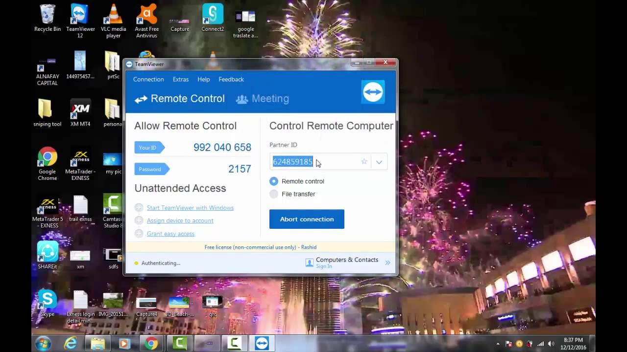 Teamviewer remote control application installer has stopped working