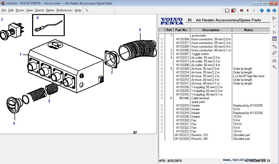 volvo penta 2003 parts manual