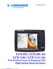 lowrance lcx 27c user manual