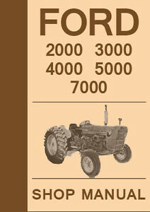 Ford 5000 diesel tractor repair manual