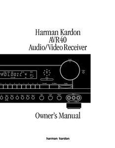 Harman kardon avr 310 manual