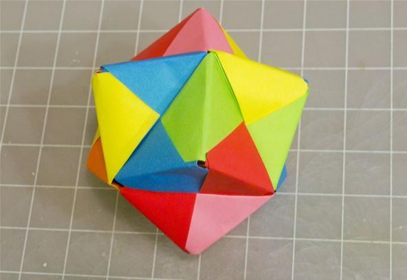 modular origami instructions cube