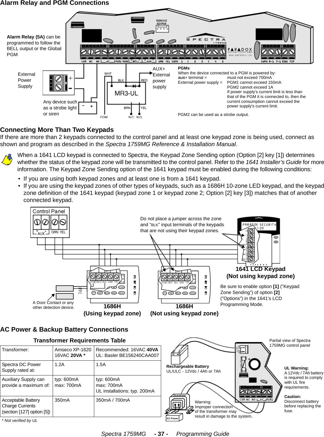 paradox spectra sp6000 user manual