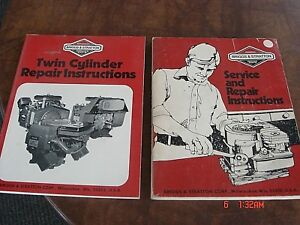 Briggs and stratton service manual twin cylinder l head
