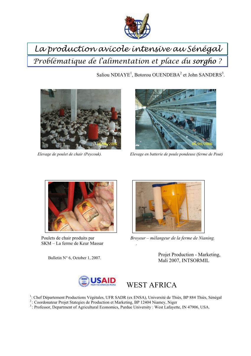 Exemple de projet avicole pdf