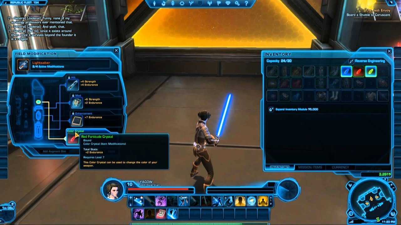 Swtor how to change lightsaber color