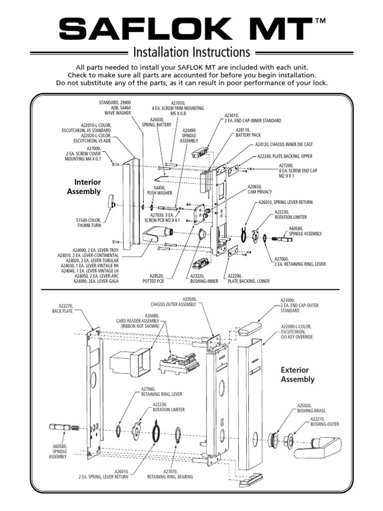 saflok quantum rfid installation instructions