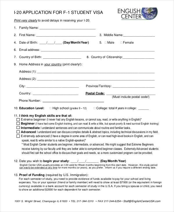 Independent visa application for student