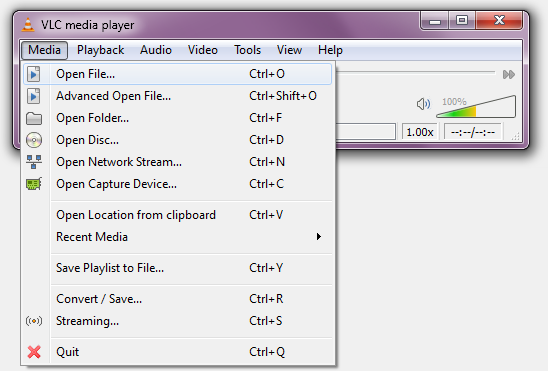 Vlc media player how to clear list