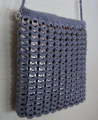 Chapitas de latas manualidades tejidos