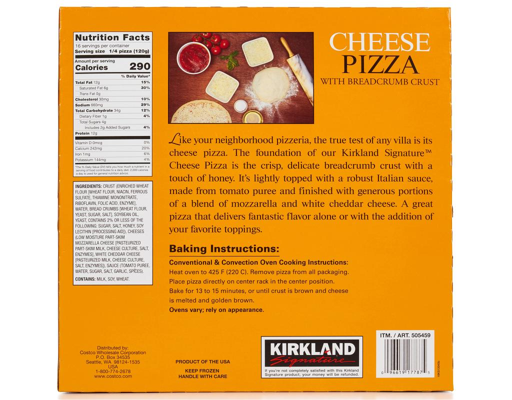 costco cheese pizza cooking instructions
