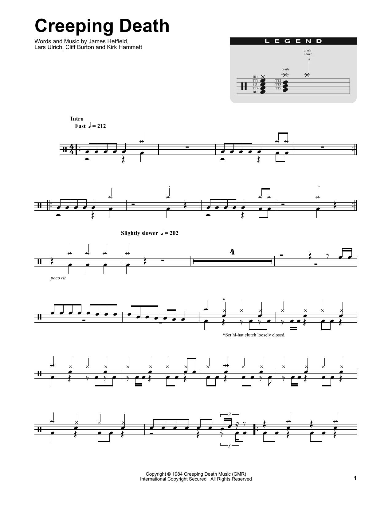 Creeping death guitar tab pdf