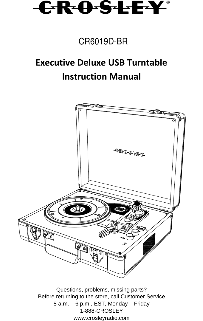 Crosley record player instruction manual