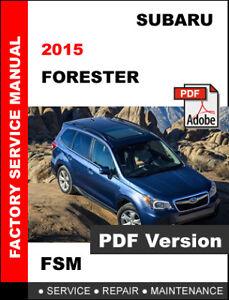 2017 subaru forester service manual