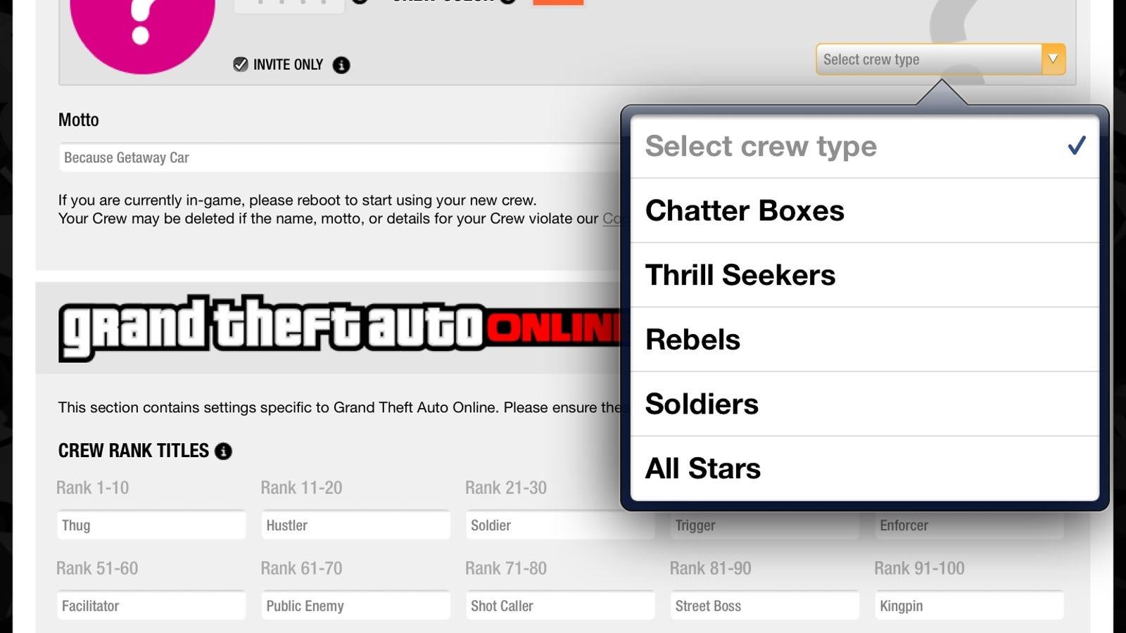 Gta 5 how to change crew name