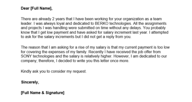 Sample email how to ask for a raise