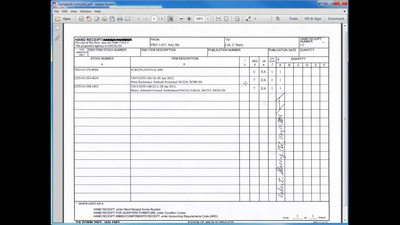 Da form 2062 pdf fillable
