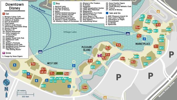 Disney springs map 2017 pdf