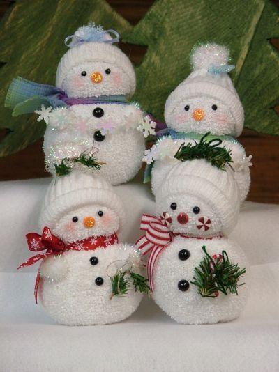 sock snowman instructions printable