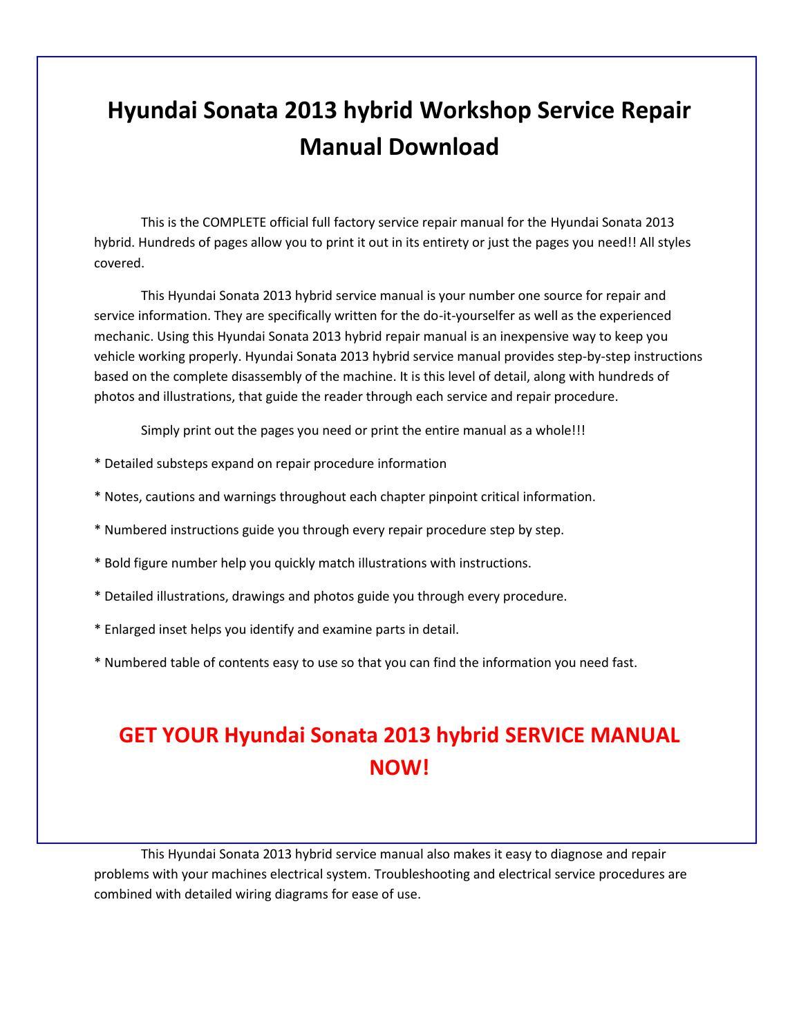 2004 hyundai sonata repair manual pdf