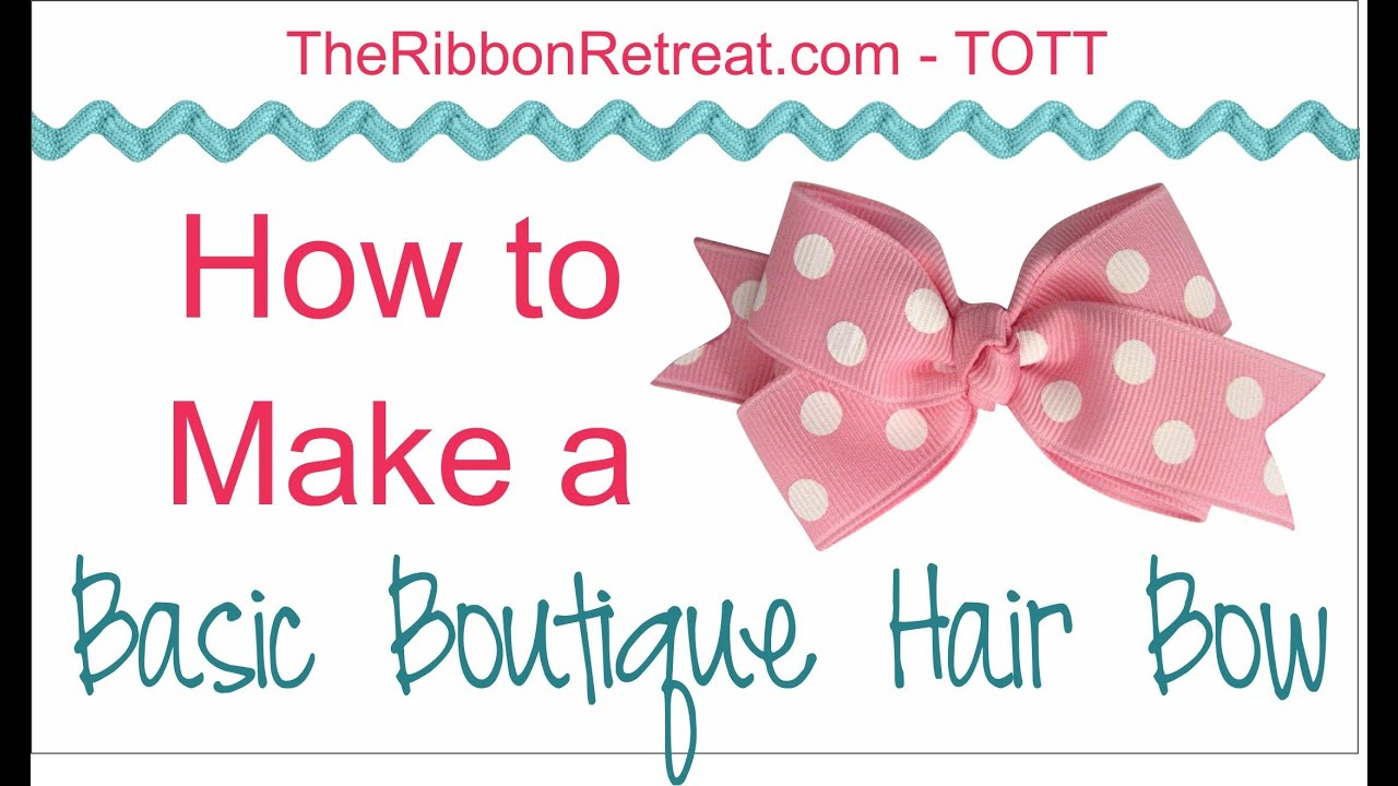 make a bow with ribbon instructions