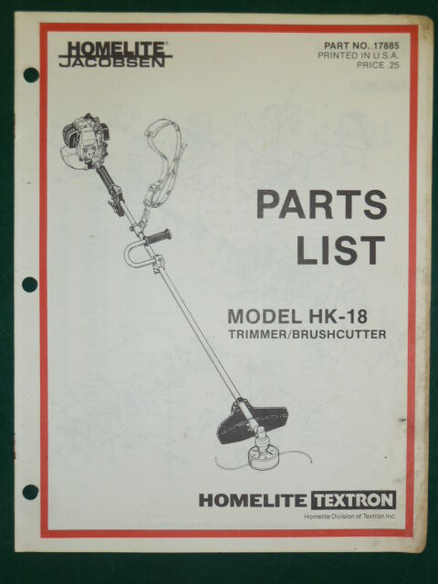 homelite mightylite hedge trimmer manual